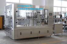 Full automatic glass bottle filling machine with air beverage